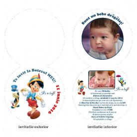 Invitatie Botez Rotunda Dubla Pinochio