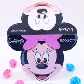 Invitatie Gemeni Contur Mickey Mouse 4