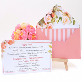 Invitatie Nunta Elegant Floral