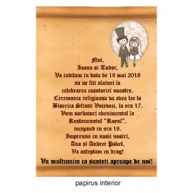 Invitatie Nunta Papirus INPAP10