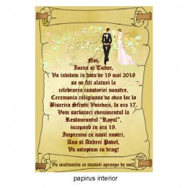 Invitatie Nunta Papirus INPAP15
