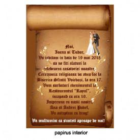 Invitatie Nunta Papirus INPAP20