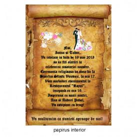 Invitatie Nunta Papirus INPAP5