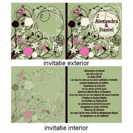 Invitatie Nunta Patrata INPT4