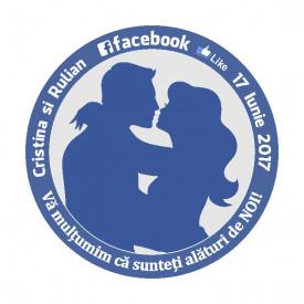 Marturie Nunta Magnet Rotund Facebook
