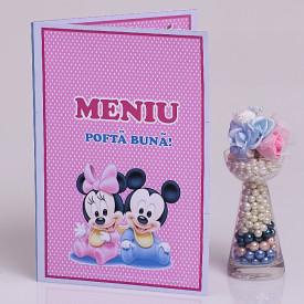 Meniu Botez Gemeni Simplu Mickey/Minnie 1