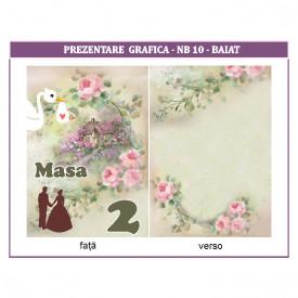 Nr de masa 2 in 1 Nunta-Botez NB10