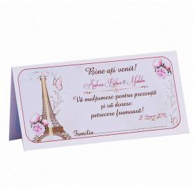 Plic Nunta Paris in Gold