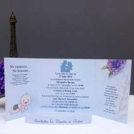 Invitatie 2 in 1 Nunta-Botez Regal NB9