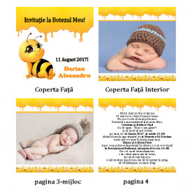 Invitatie Botez Carticica Albinutul Buclucas
