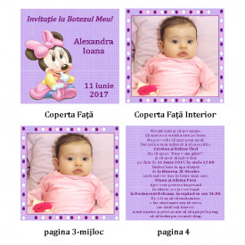 Invitatie Botez Carticica Minnie Mouse
