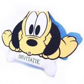Invitatie Botez Contur Baby Pluto