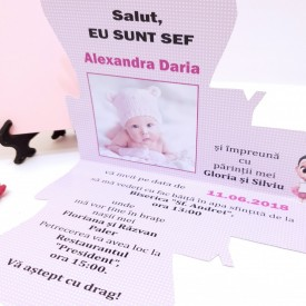 Invitatie Botez Contur Baby Princess 4