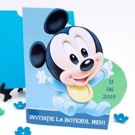 Invitatie Botez Contur Mickey Mouse 11