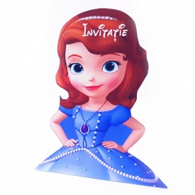 Invitatie Botez Contur Sofia Girl
