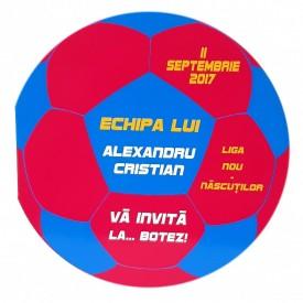 Invitatie Botez Fotbal Rosu-Bleu-Galben
