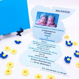Invitatie Gemeni Contur Albinutul 1