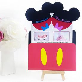 Invitatie Gemeni PRO Mickey-Minnie Var 2
