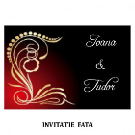 Invitatie Nunta Carte Postala INCP64