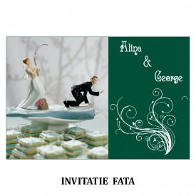 Invitatie Nunta Carte Postala INCP68