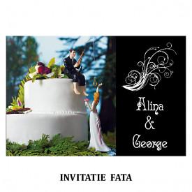 Invitatie Nunta Carte Postala INCP70