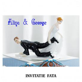 Invitatie Nunta Carte Postala INCP72
