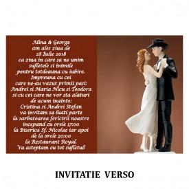 Invitatie Nunta Carte Postala INCP76