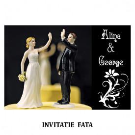 Invitatie Nunta Carte Postala INCP82