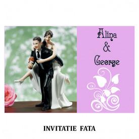 Invitatie Nunta Carte Postala INCP88