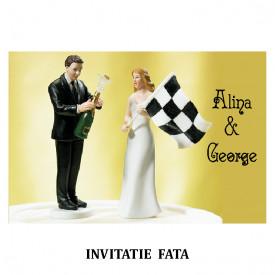 Invitatie Nunta Carte Postala INCP90