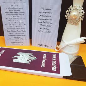 Invitatie Nunta Ciocolata Pasaport