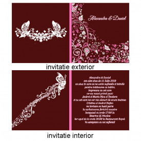 Invitatie Nunta Patrata INPT11