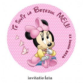 Invitatii Botez Rotunde Minnie Mouse 1