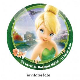 Invitatii Botez Rotunde Tinkerbell 2