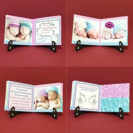 Marturie Gemeni Carticica Bebe Albastru-Roz Var 3