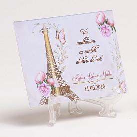 Marturie Nunta Magnet Paris in Gold