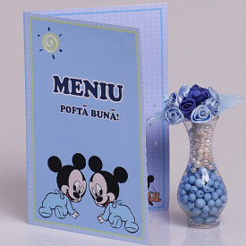 Meniu Botez Gemeni Simplu Mickey Mouse 2