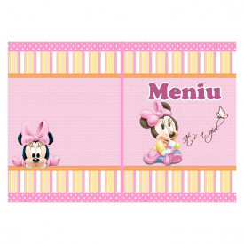 Meniu Botez Simplu Fetite Minnie Mouse 1