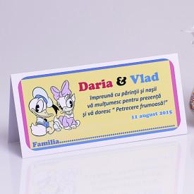 Plic Botez Gemeni Donald-Daisy