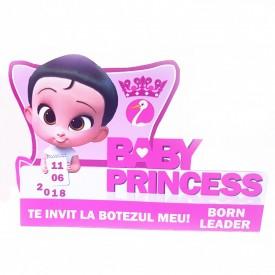 Invitatie Botez Contur Baby Princess 10