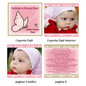 Invitatie Botez Carticica Fluture