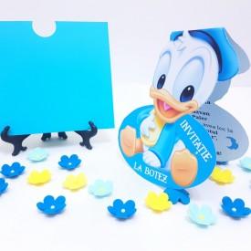 Invitatie Botez Contur Baby Donald