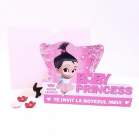 Invitatie Botez Contur Baby Princess 3