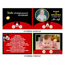 Invitatie Botez Dubla Mickey Mouse 4
