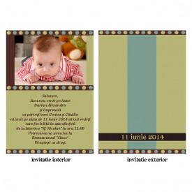 Invitatie Botez Papirus Disney Bebe 11