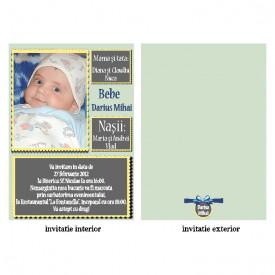 Invitatie Botez Papirus Disney Bebe 16