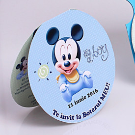 Invitatie Botez Rotunda Dubla Mickey Mouse 4