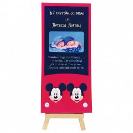 Invitatie Gemeni Ciocolata 2 Mickey