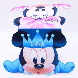 Invitatie Gemeni Contur Mickey Mouse 2