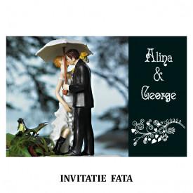 Invitatie Nunta Carte Postala INCP66